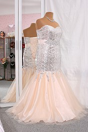 NEU Ballkleid Gala Meerjungfraue Mermaid 42 44 46